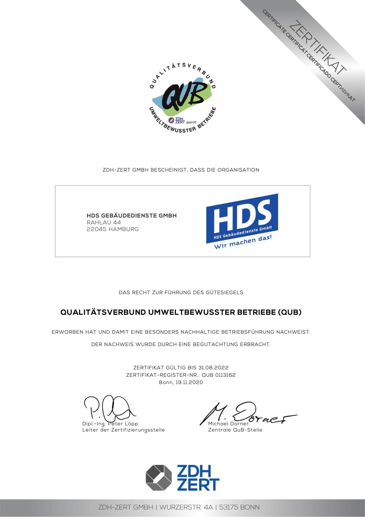 HDS Gebäudedienste Hamburg Unterhaltsreinigung